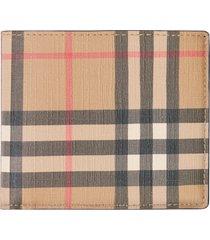 burberry vintage check billfold wallet in beige at nordstrom