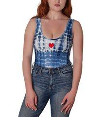 just polly printed sleeveless bodysuit