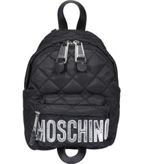 moschino logo mini quilted backpack