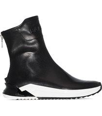 balmain b glove high-top sneakers - black