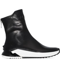 balmain b glove high-top sneakers - black