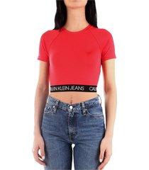calvin klein j20j212891 t-shirt women red