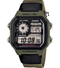 reloj digital verde casio