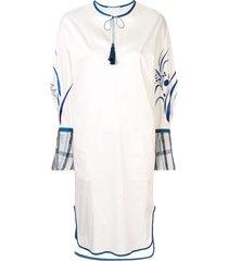 mame kurogouchi tassel tie midi dress - white