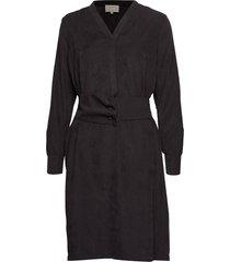 lux dress knälång klänning svart minus
