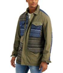 sun + stone men's reynolds colorblocked jacket