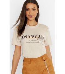 tall los angeles slogan t-shirt, sand