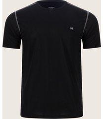 camiseta costuras contraste negro l
