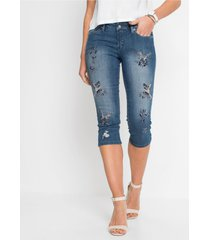 capri jeans met borduursel