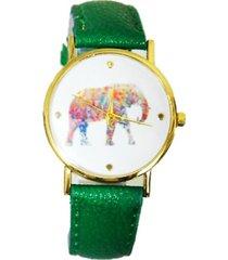 reloj elefante verde sasmon re-20003