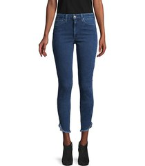 joe's jeans women's high-rise honey dolphin-hem curvy skinny ankle jeans - medium blue - size 25 (2)