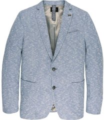 blazer slub pique blazer chambray blue