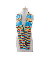 cotton blend kente scarf, 'artisan hands' (2 strips) (ghana)