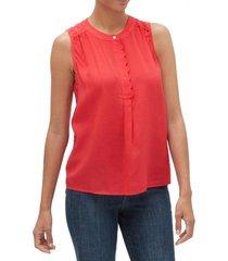 blusa sin mangas roja rojo gap