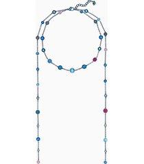 collana model, multicolore, rivestimento pvd azzurro