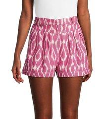 iro women's trilaoca print paperbag shorts - burgundy - size 42 (10)