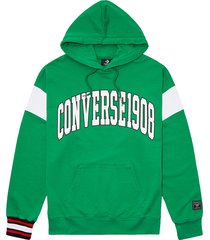 converse sudadera con capucha fleece wordmark green