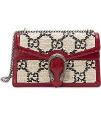 gucci small tweed dionysus shoulder bag - white