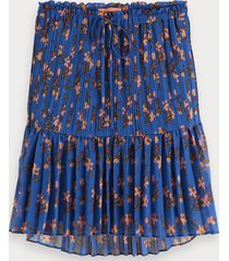 scotch & soda pleated peplum skirt