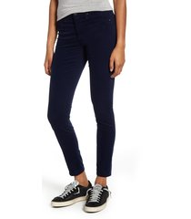 women's ag the legging corduory skinny ankle jeans, size 25 - blue