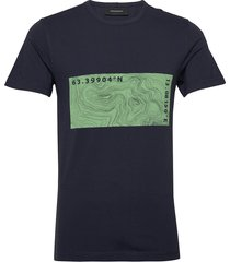 m karta tee t-shirts short-sleeved blauw peak performance