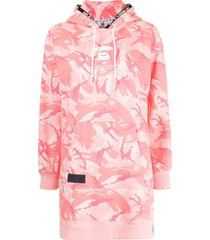 aape by *a bathing ape® graphic-print hooded short dress - pink