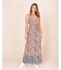 maxi vestido estampado floral