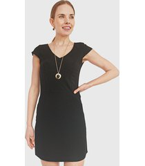 vestido ash corto negro - calce regular
