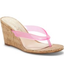 jessica simpson coyrie thong wedge sandals women's shoes