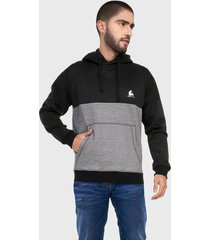 buzo hoodie para hombre negro gris corte inglés