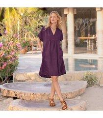 sundance catalog women's dawn to dusk dress in currant petite 2xs
