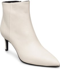 pointed bootie low - high front shoes boots ankle boots ankle boot - heel creme apair