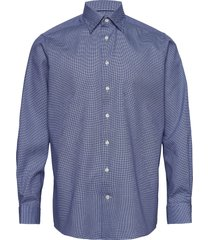 dobby shirt - contemporary fit overhemd business blauw eton