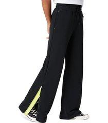 converse pantalón de pernera ancha mountain club black