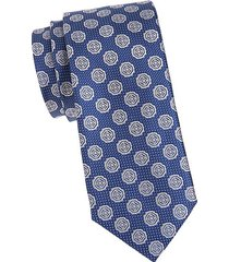 medallion circle silk tie
