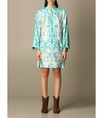 etro dress etro tunic dress in printed silk