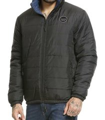 jaqueta vlcs dupla face preto/azul