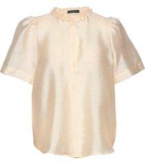 lin blouses short-sleeved crème stella nova