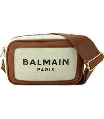 balmain b-army logo-print crossbody bag