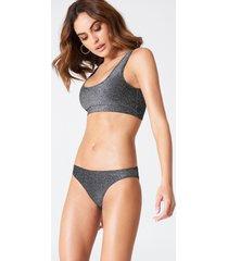 hannalicious x na-kd glittery bikini panty - grey