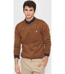 sweater marrón polo label