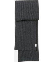 a.p.c. women's billie scarf - anthracite chine