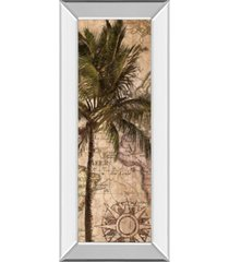 "classy art exotic destination i by katrina craven mirror framed print wall art - 18"" x 42"""