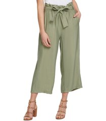 dkny wide-leg paperbag-waist pants