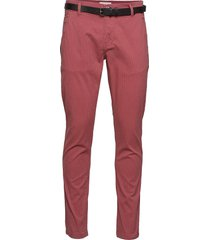 aop chinos with. belt chinos byxor rosa lindbergh