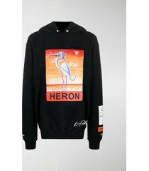 heron preston x kenny scharf logo-print hoodie