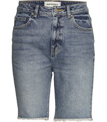 bermuda boy short shorts denim shorts blå superdry
