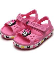 papete crocs infantil minnie mouse rosa