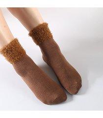 tubo invernale donna calze pile tinta unita calze spesso caldo traspirante casual buon elastico calze