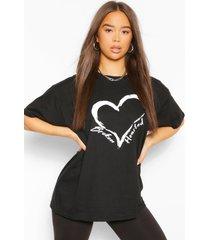 broken hearted t-shirt, zwart